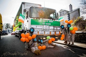 Photos of St. Patrick's Day Float, St Mary's College, Ballysadare. Thanks to our sponsors.